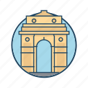 asian, dehli gate, delhi gate india, famous building, historical, indian, landmark