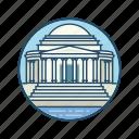 american, colonnade, famous building, jefferson memorial, landmark, thomas, washington dc icon