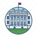 american, famous building, government, landmark, president, usa, white house