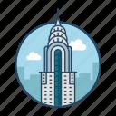 america, apartment, chrysler, downtown, famous building, landmark, new york