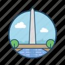 america, famous building, independent, landmark, monument, washington, washington monument icon