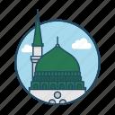 arab, famous building, green, islam, jeddah, landmark, madinah saudi arabia icon