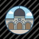al aqsa mosque jerusalem, dome, famous building, historical, islamic, jerusalem, landmark icon