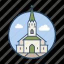 church, famous building, frikirkjan church, iceland, landmark, religious, reykjavik icon