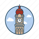 famous building, historical, landmark, merdeka, metropolis, square malaysia, sultan abdul samad building icon