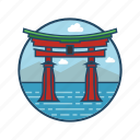 chinese, famous building, gate, japan, japanese gate, landmark, tori icon