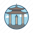 contour, famous building, gate, hanoi, hoa lu vietnam, landmark, vietnamese icon