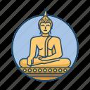 asian, buddhism, famous building, historical, landmark, religious, wat mahathat sukhothai icon