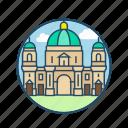 alexanderplatz, berlin cathedral, church, europe, famous building, germany, landmark icon