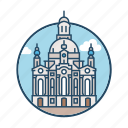 church, dome, evangelical, famous building, frauenkirche dresden, germany, landmark icon