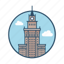 capital, capital warsaw poland, contour, europe, famous building, giant, landmark icon