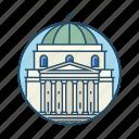 church, columns, europe, famous building, landmark, religious, warsaw icon