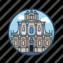 europe, famous building, landmark, poland, religious, residential, warsaw church icon
