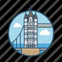 british, england, famous building, holmes, landmark, reflection, tower bridge london