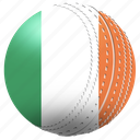 ball, competiton, country, cricket, flag, ireland, match icon