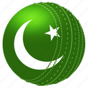 ball, cricket, flags, game, national, pakistan, play icon