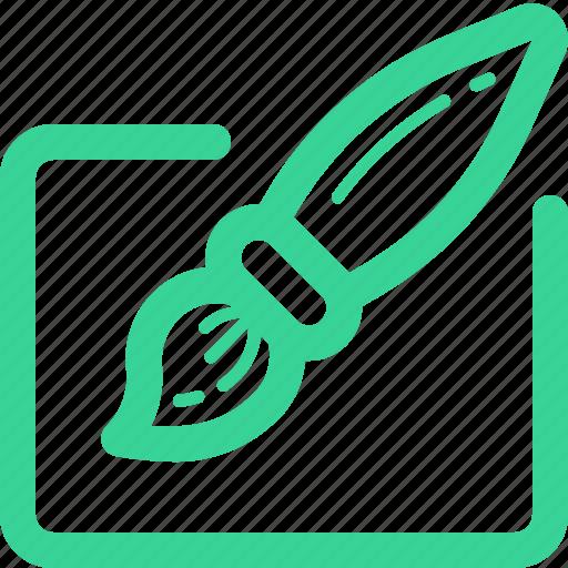 brush, draw, edit, paintbrush, tools, write, writing icon