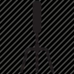 garden, gardening, rake, tool, wsd icon