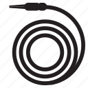 garden, gardening, hose, hosepipe, watering, wsd icon