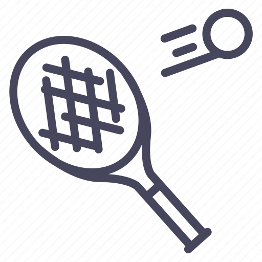 game, olympic, play, rocket, sport, tennis, wsd icon
