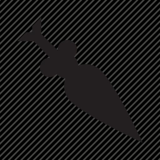 arrow, down, skew, slant icon