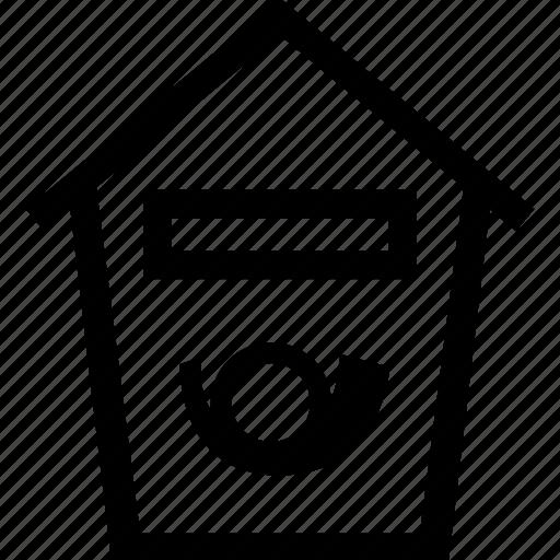 box, mailbox, post icon