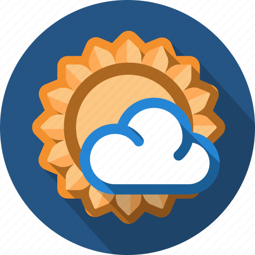 cloud, forecast, sun, sunny icon