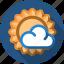 cloud, forecast, sun, sunny icon