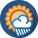 cloud, rain, sun icon