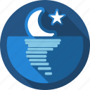 moon, night, sunset icon