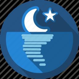 moon, night, sunset icon