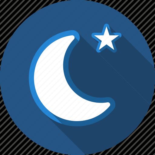 moon, night, star icon