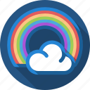 cloud, rain, rainbow, sun icon