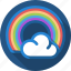 cloud, rain, rainbow, sun icon