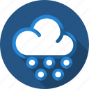 cloud, drizzle, rain, sprinkle icon