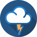 cloud, flash, lightning, storm, thunder icon