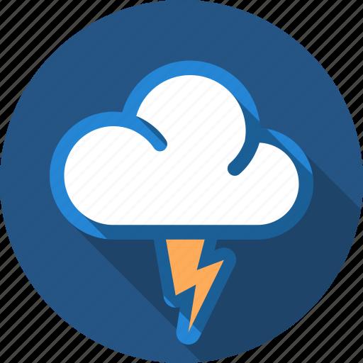 cloud, flash, lightning, storm, thunder icon