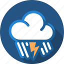 cloud, flash, lightning, rain, storm, thunder icon