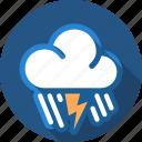cloud, flash, lightning, rain, storm, thunder icon