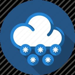cloud, snow, snowfall icon
