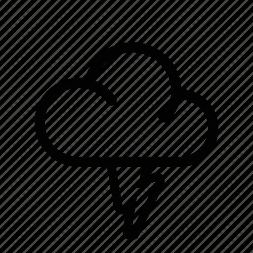 cloud, flash, lightning, power, storm, thunder icon