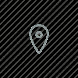 destination, item, label, object, point icon