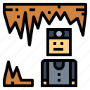 caving, mountain, nature, shelter icon