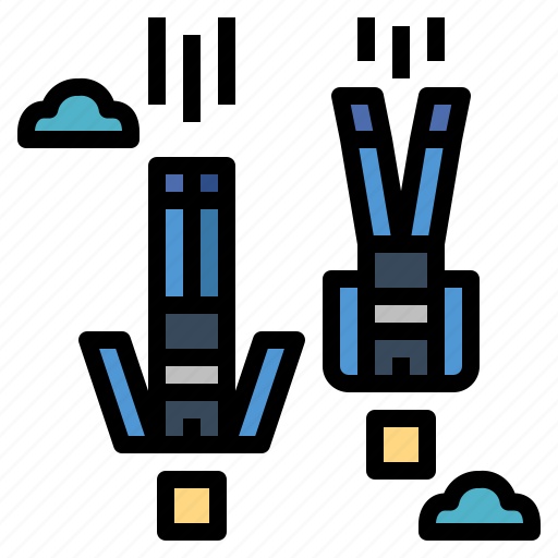 fly, freeflying, parachute, skydiving icon