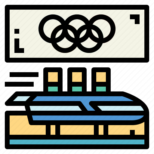 bobsledding, olympics, sports, winter icon