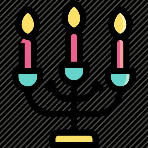 candles, candlestick, decoration, illumination, light icon