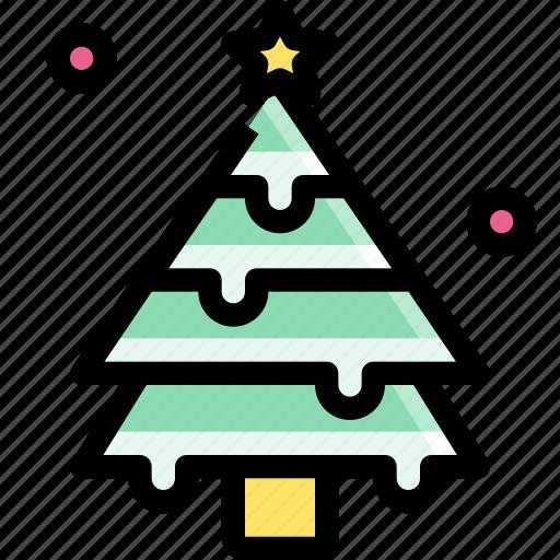 decoration, forest, pine, tree, winter, xmas icon