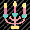 light, decoration, illumination, candlestick, candles icon