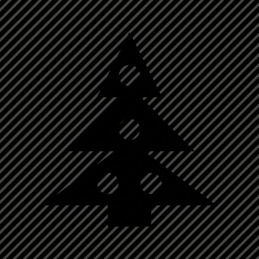 christmas, fir, spruce, tree, wood icon