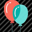 balloons, celebration, party, decoration, christmas